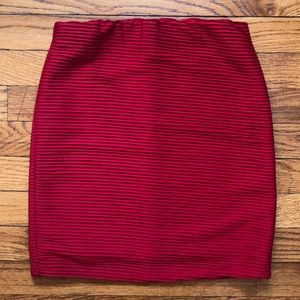 Red Forever 21 Mini Ruffle Skirt S